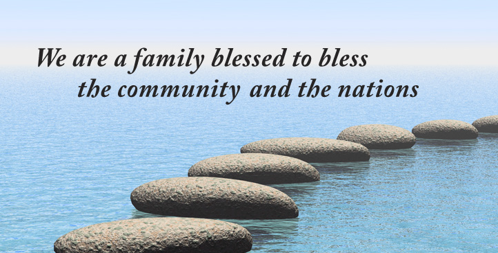 Information Banner- PLMC:We are a family blessed to bless the community and the nations